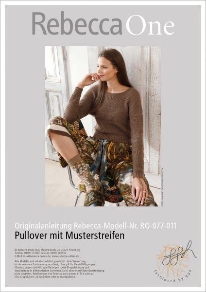 Strickanleitung - Pullover mit Musterstreifen