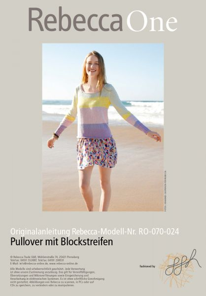 Strickmuster - Pullover mit Blockstreifen