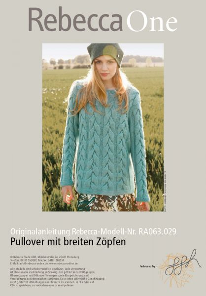 Strickmuster - Pullover mit breiten Zöpfen