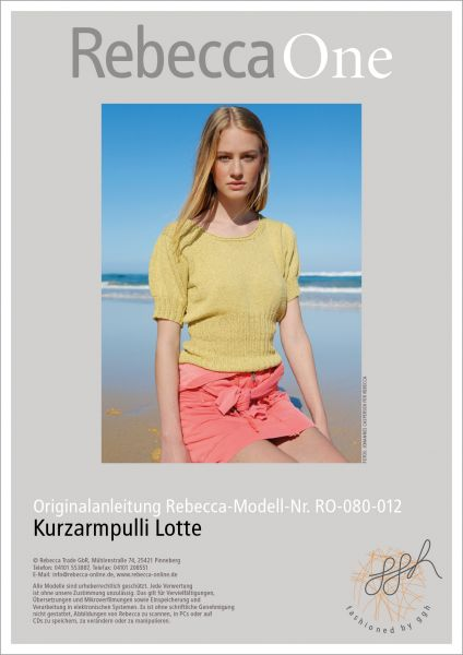 Strickmuster - Kurzarmpulli Lotte