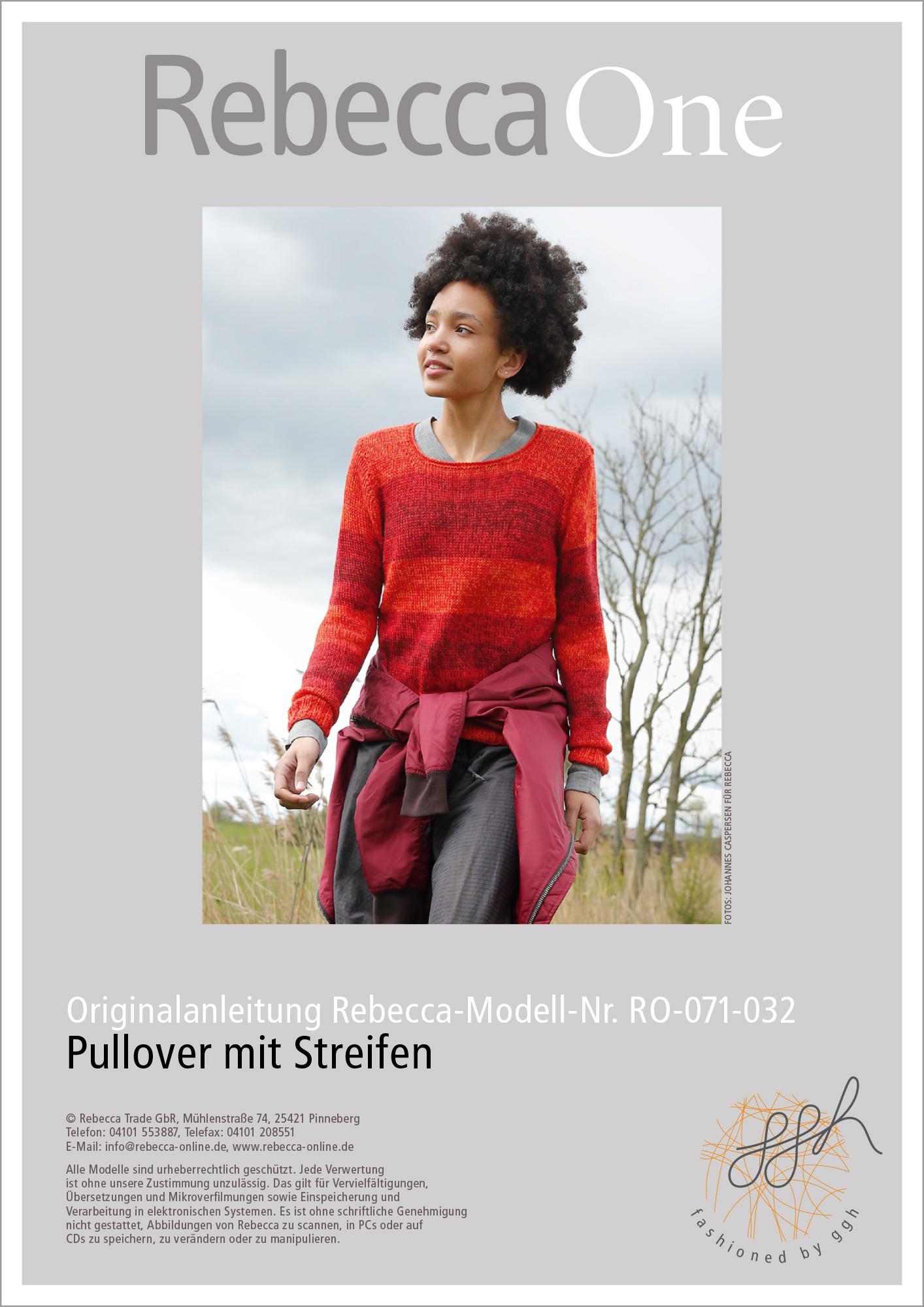 Strickanleitung Melierter Pullover