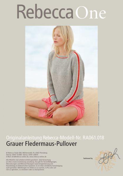Grauer Fledermaus-Pullover