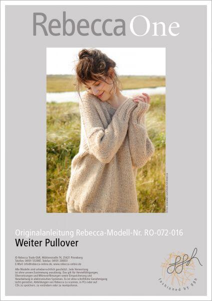 Strickanleitung - Weiter Pullover