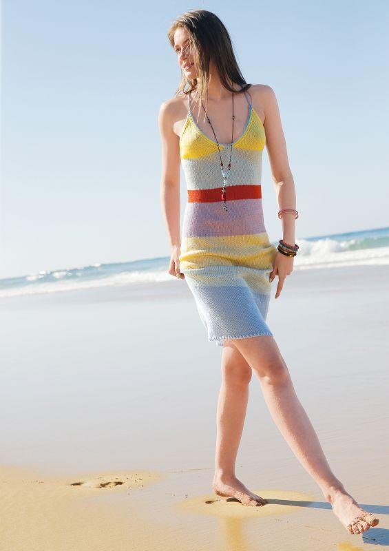 Kleid selber stricken für Anfänger - Strandkleider mit Strickanleitung