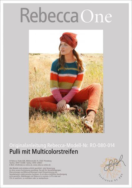 Anleitung - Pulli mit Multicolorstreifen