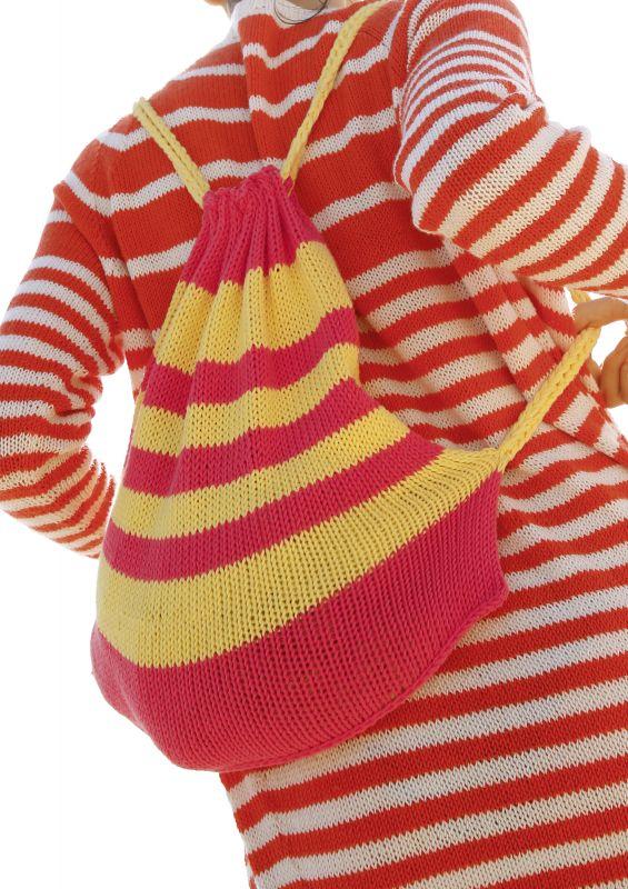 Strickmodelle mit Streifen und Ringeln: Mini-Rucksack mit Streifen