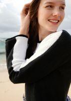 Pullover in Schwarz-Weiß