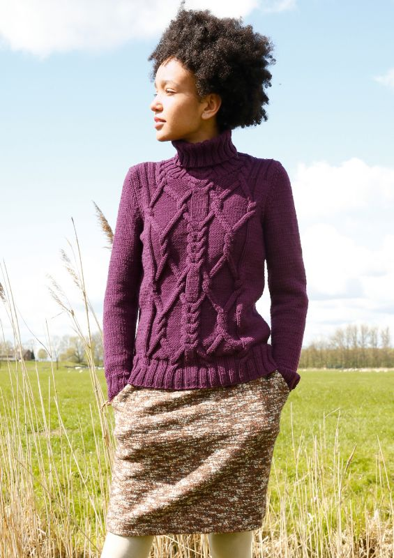 Raffinierte Mode in angesagten Rottönnen: Pullover mit Rhomben