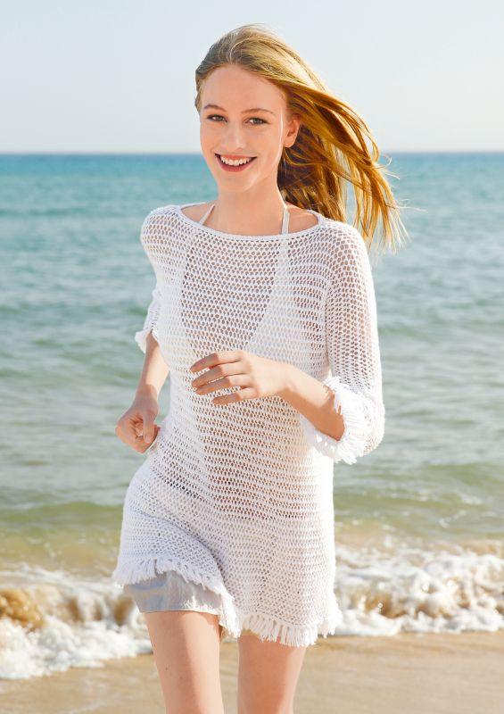 Stricken für Anfänger: Pullover mit Netzmuster