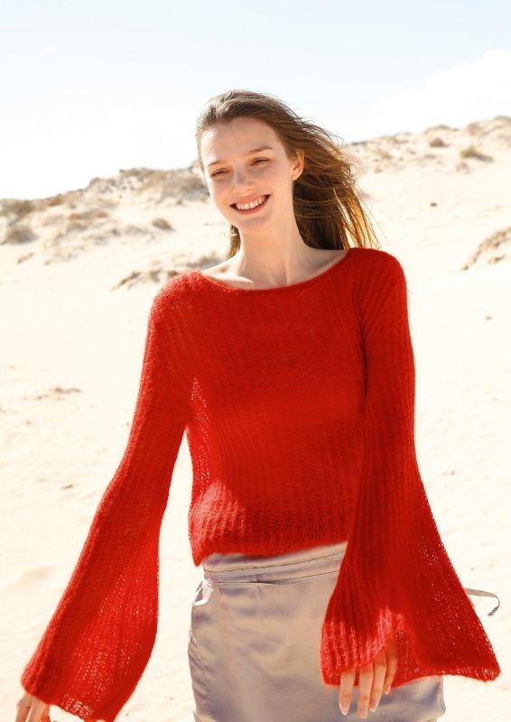 Pullover mit Glockenärmeln stricken