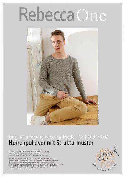 Strickanleitung - Herrenpullover mit Strukturmuste