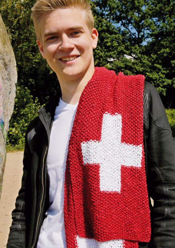 Strickset: Fanschal Schweiz stricken