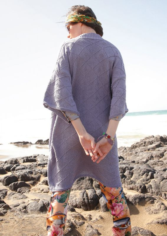 Kimono stricken Sommerjacke