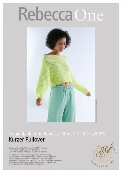 Anleitung - Kurzer Pullover