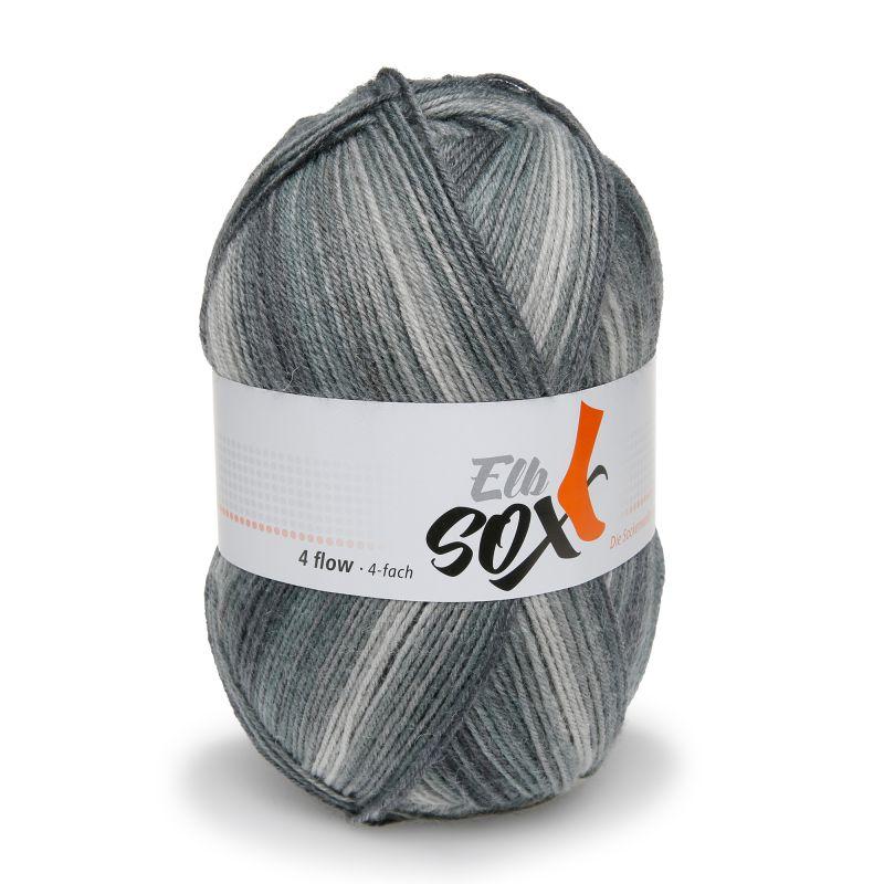 ElbSox 4fach flow degrade Sockenwolle Schurwolle Verlaufsgarn