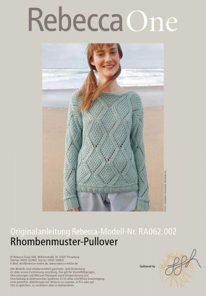 Rhombenmuster-Pullover