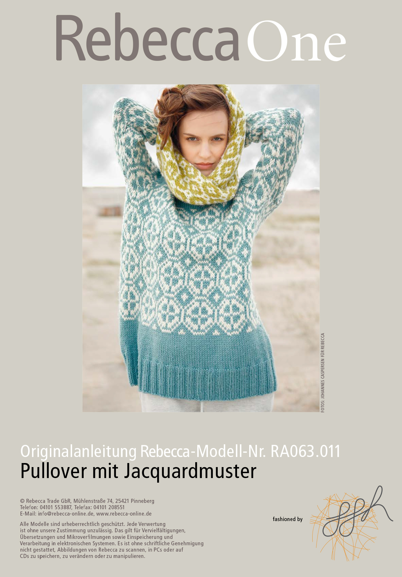 strickmuster pullover mit jacquardmuster rebecca. Black Bedroom Furniture Sets. Home Design Ideas