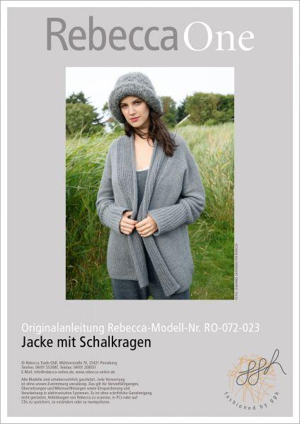 Strickanleitung - Jacke mit Schalkragen