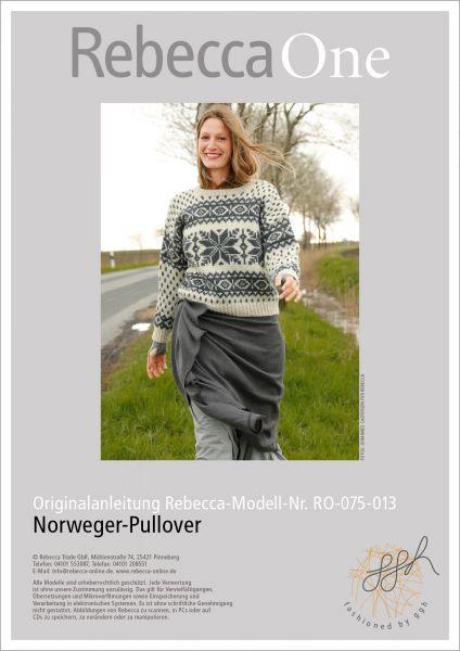 Strickanleitung - Norweger Pullover