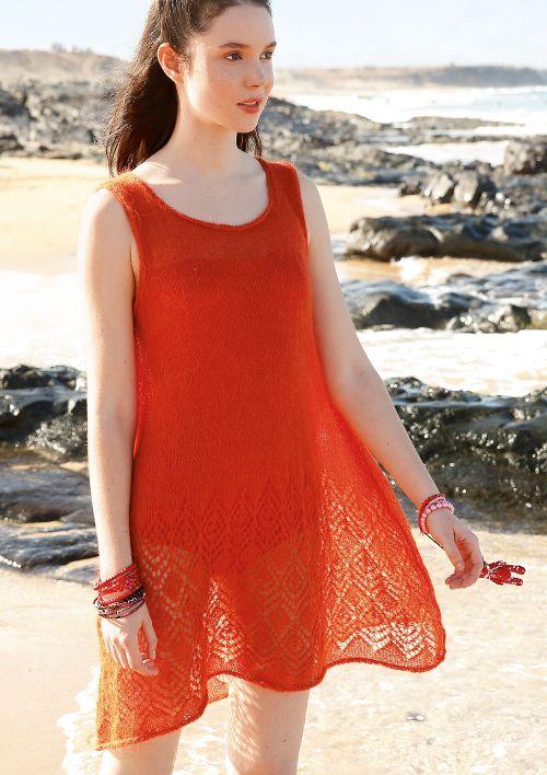 Lochmuster-Strickanleitungen: Mini-Kleid