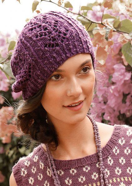 Mütze mit Lochmuster