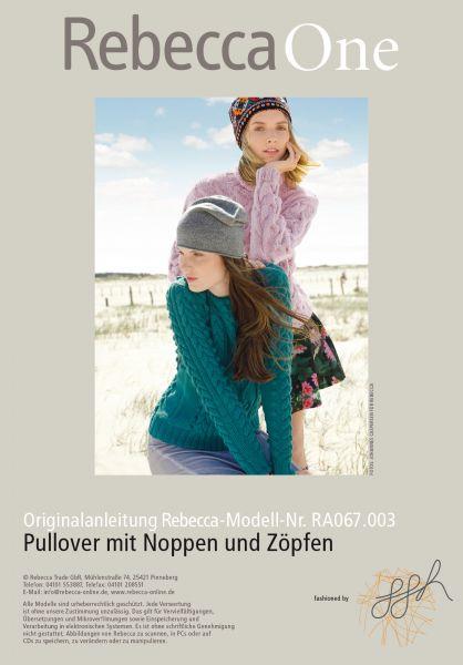 Pullover mit Noppen und Zöpfen