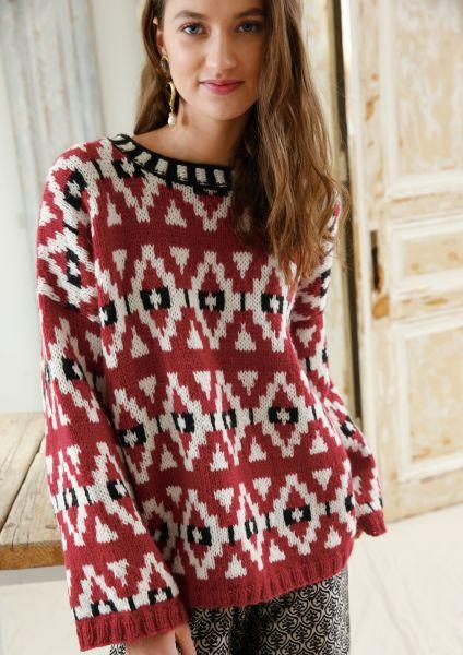 Pullover mit Jacqurdmuster