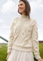 Pullover mit Blattmuster