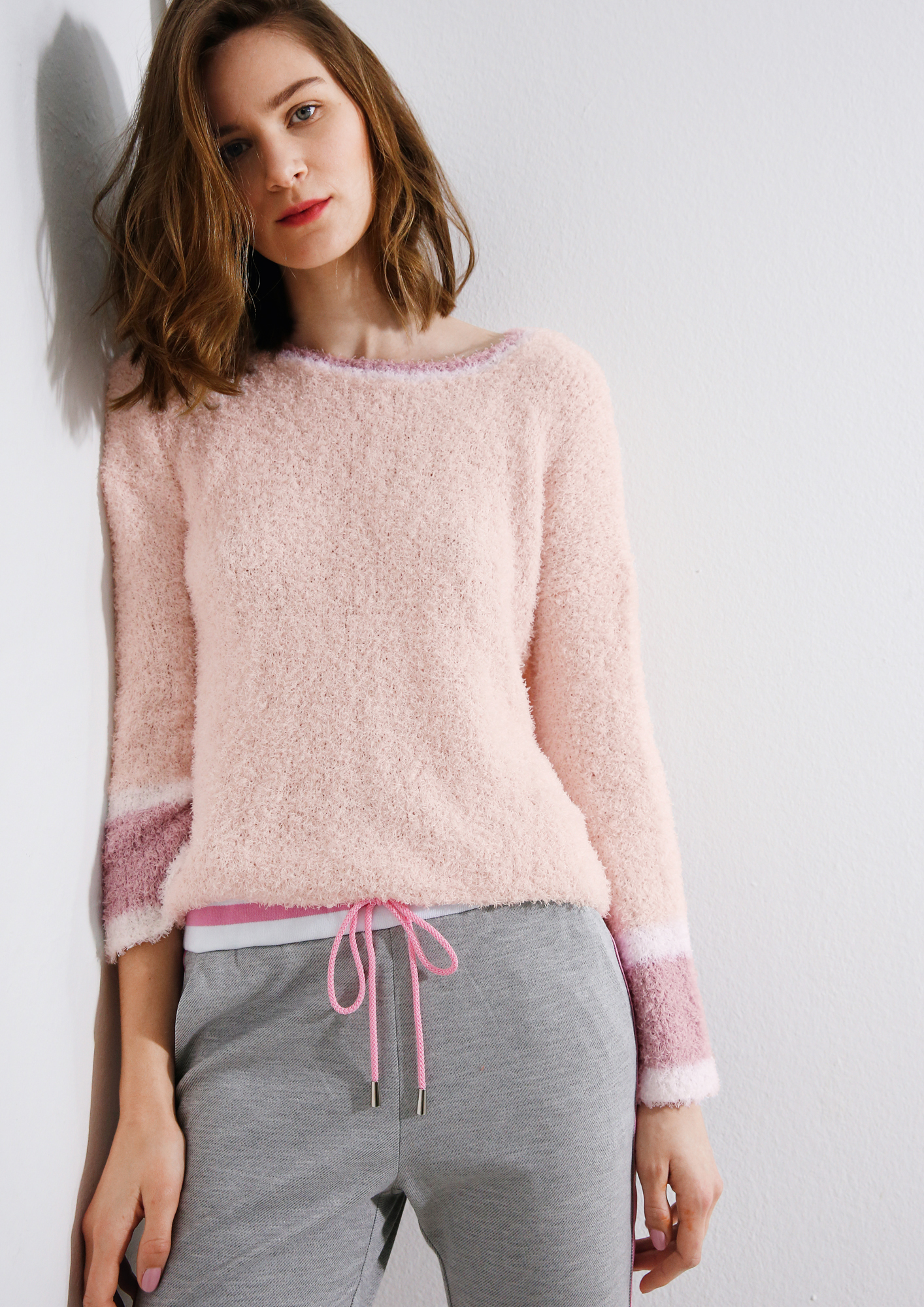 Frottee Pullover