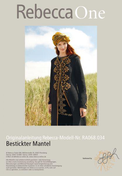 Bestickter Mantel