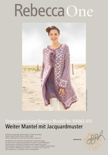 Strickmuster - Weiter Mantel mit Jacquardmuster