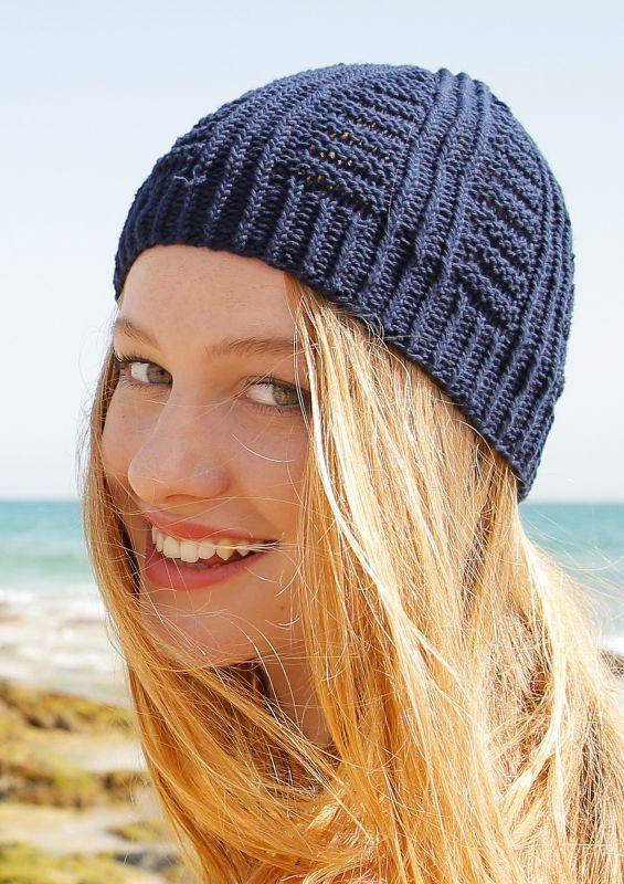 Sommer-Strickmode: Mütze stricken aus Baumwolle und Leinen