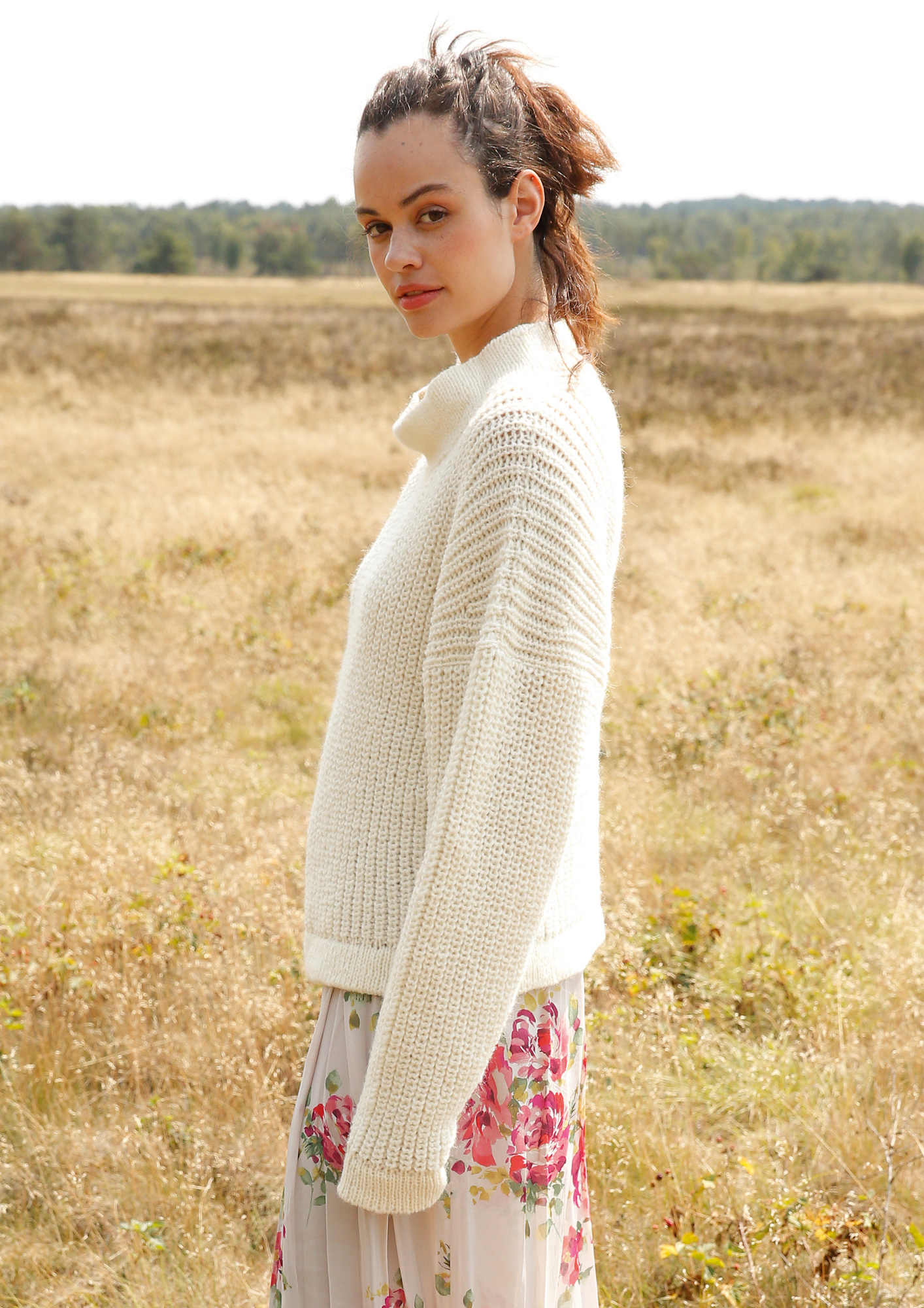 0ea1bdd7604c ... Preview  Knit pattern – Jumper with half fisherman s rib pattern ...