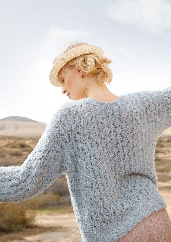 Naturtöne: Weiter Frottee-Pullover