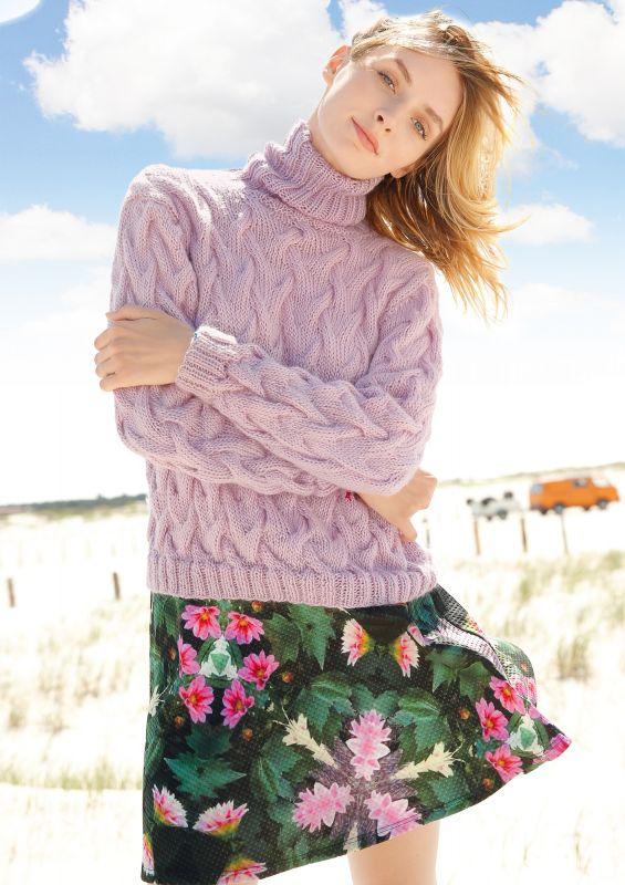 Pullover mit Wellenmuster stricken