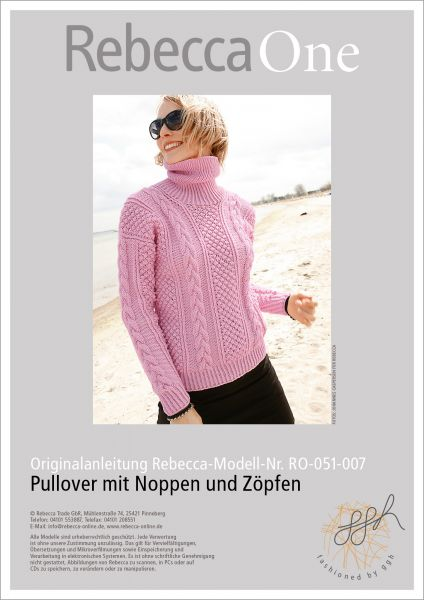 Anleitung - Rollkragenpullover