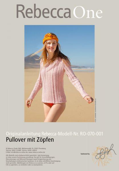 Strickmuster - Pullover mit Zöpfen
