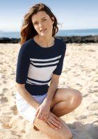 Pullover mit Streifen Garnpaket Nr. 024 aus Rebecca Nr. 66