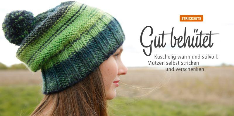 Strickset schenken: Mütze stricken
