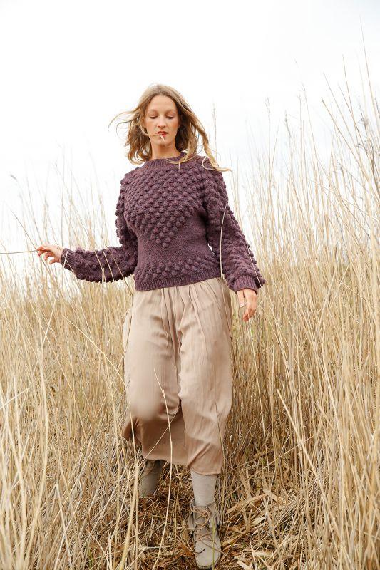 Knitalong Stricken Pullover mit Noppen kostenlose Strickanleitung