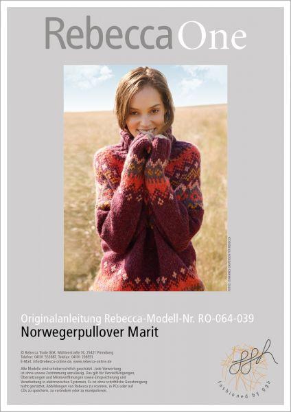 Strickanleitung Norwegerpullover Marit