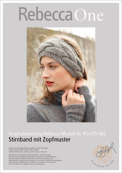 Strickanleitung - Stirnband mit Zopfmuster | Rebecca