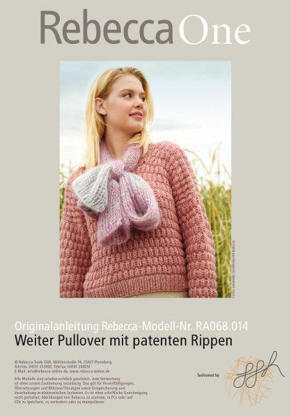 Weiter Pullover mit patenten Rippen