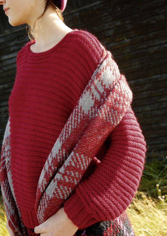 Pullover mit Querrippen aus AMANO COLCA