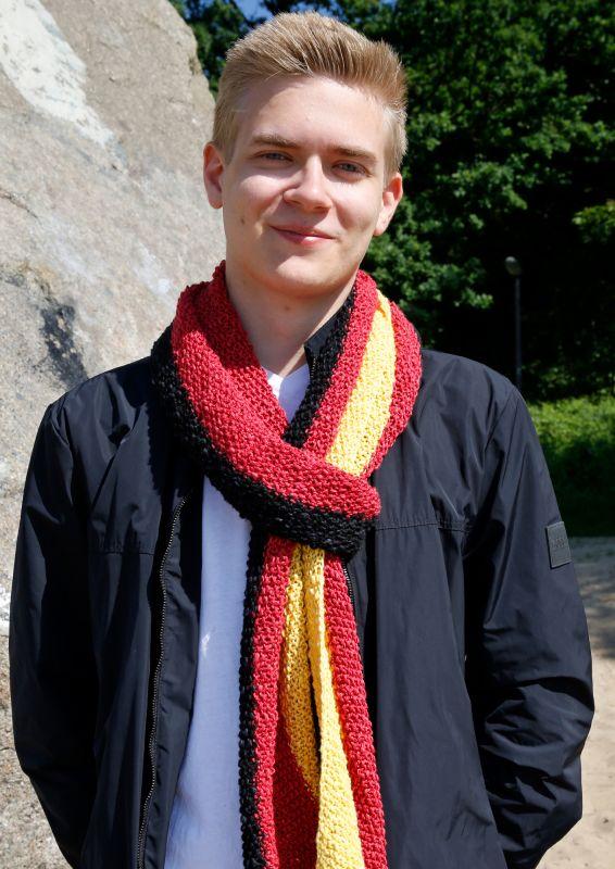 Deutschlandschal WM 2018 Schal stricken