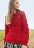 Pullover mit Rhomben