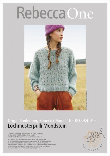 Anleitung - Lochmusterpulli Mondstein