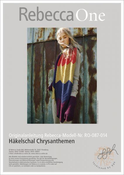 Häkelschal Chrysanthemen