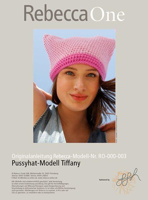 Pussyhat kostenlose Strickanleitung: Modell Tiffany