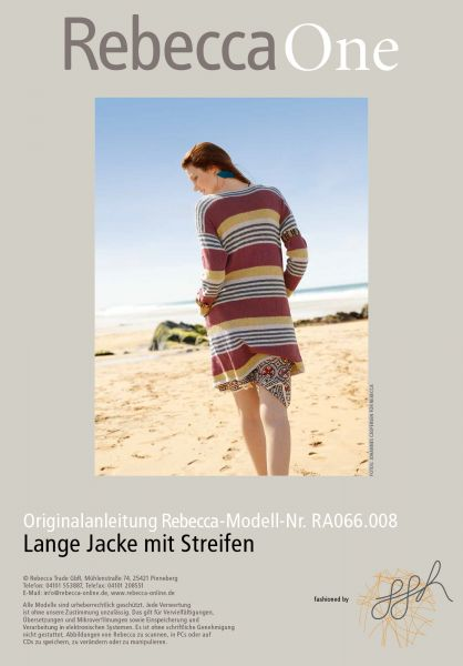 Lange Jacke mit Streifen
